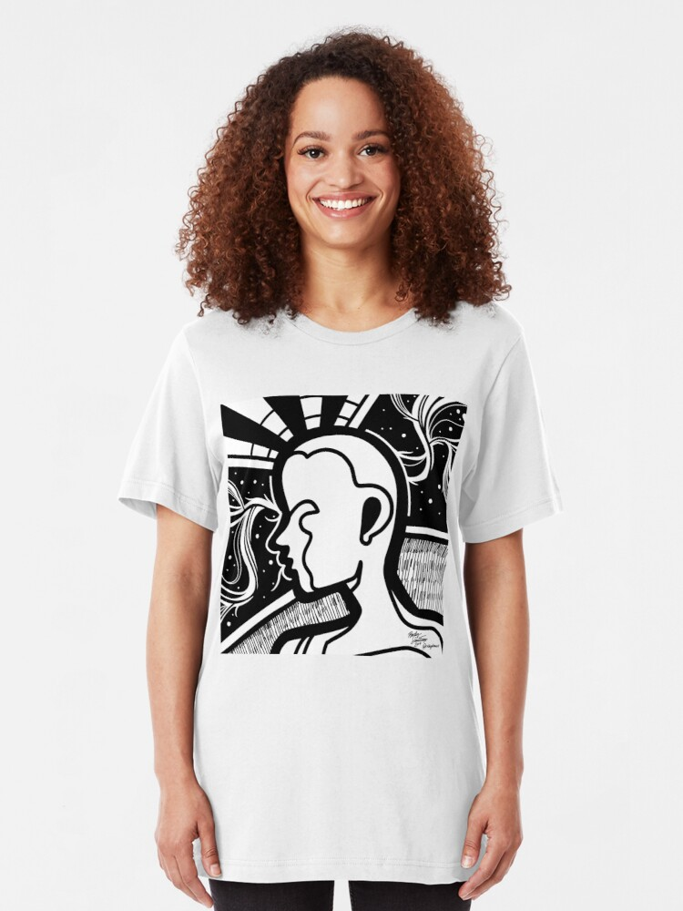 Alternate view of Abstract Mentality 2 Slim Fit T-Shirt