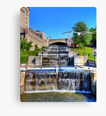 Rideau Canal Lockstations - UNESCO World Heritage Site Canvas Print