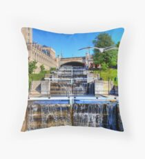Rideau Canal Lockstations - UNESCO World Heritage Site Throw Pillow