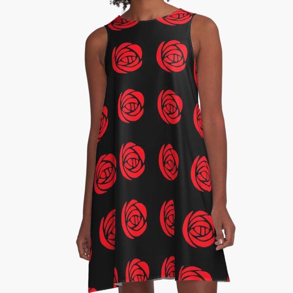 Charles Rennie Mackintosh Roses 14. A-Line Dress