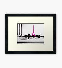 la vie en Rose à Paris Framed Print