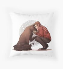 Sterek- Snowy Days Throw Pillow