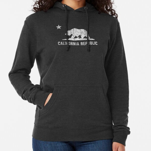 VIntage California Republic Sudadera ligera con capucha