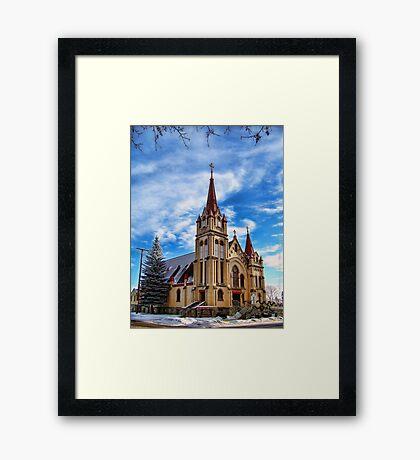 Christmas Church Framed Print