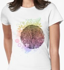 Branches of tree Womens Fitted T-Shirt