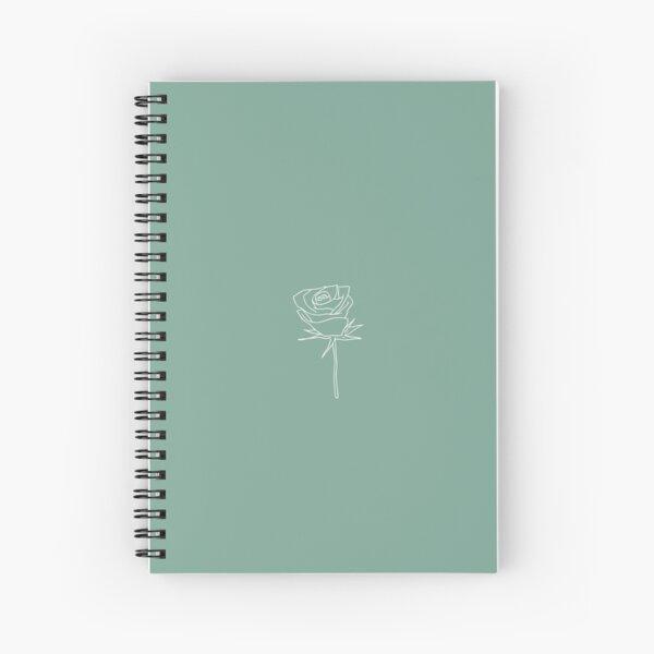 Green notebook | Rose Spiral Notebook