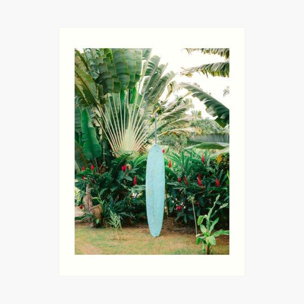 The blue surfboard | Travel photography print Art Print