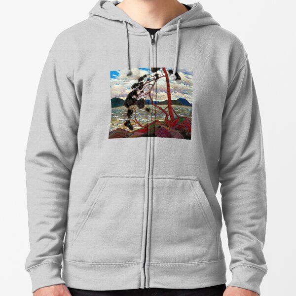 WEST WIND : Vintage 1919 Tom Thomson Algonquin Park Art Print Zipped Hoodie