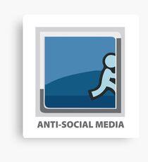 Anti-Social Media Canvas Print