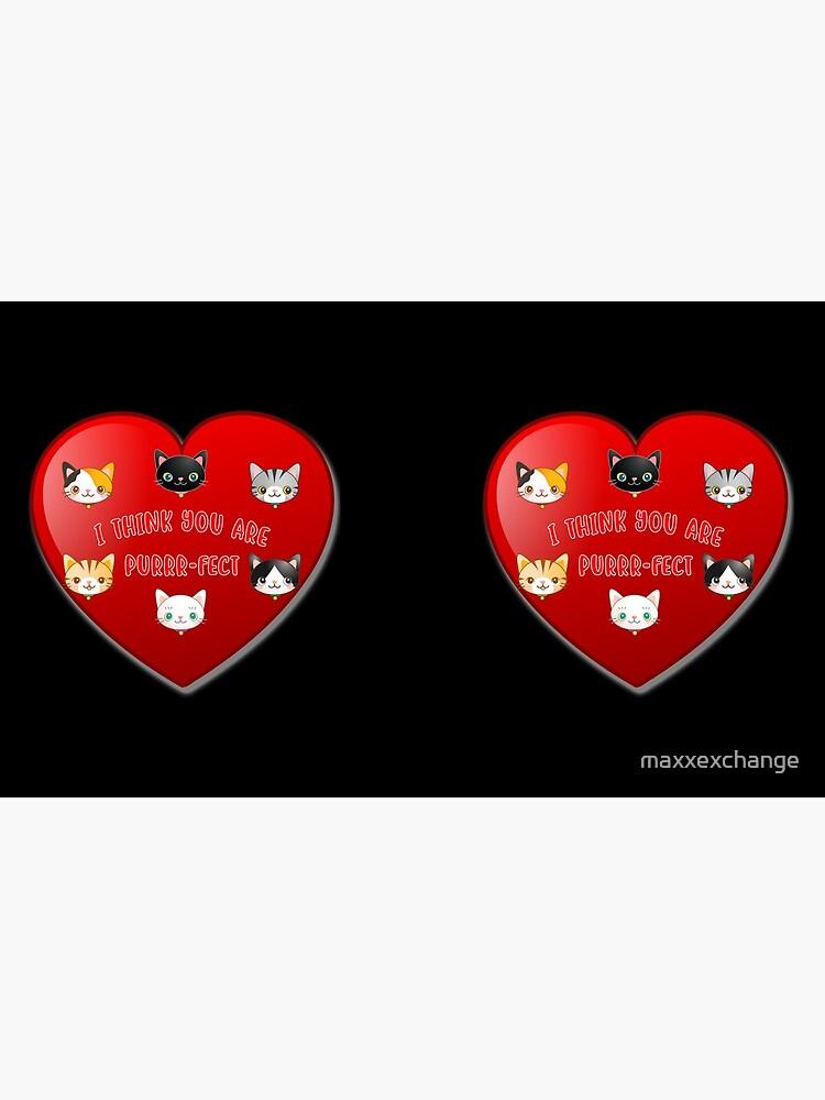 St Valentine Day Purr-fect Heart Alley Cat Pet Pun. by maxxexchange