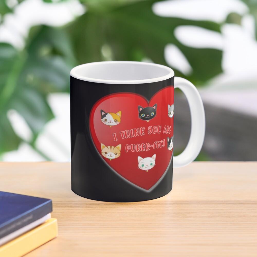 St Valentine Day Purr-fect Heart Alley Cat Pet Pun. Mug