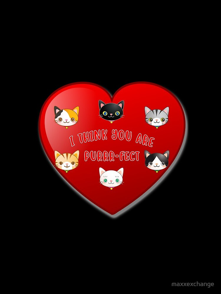 Kitty Cat Valentines Day Cute Kitten Lover Gift. by maxxexchange