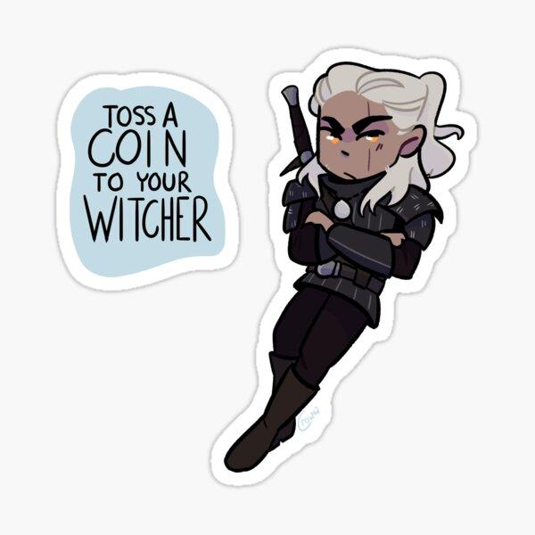 Geralt Chibi - The Witcher Sticker