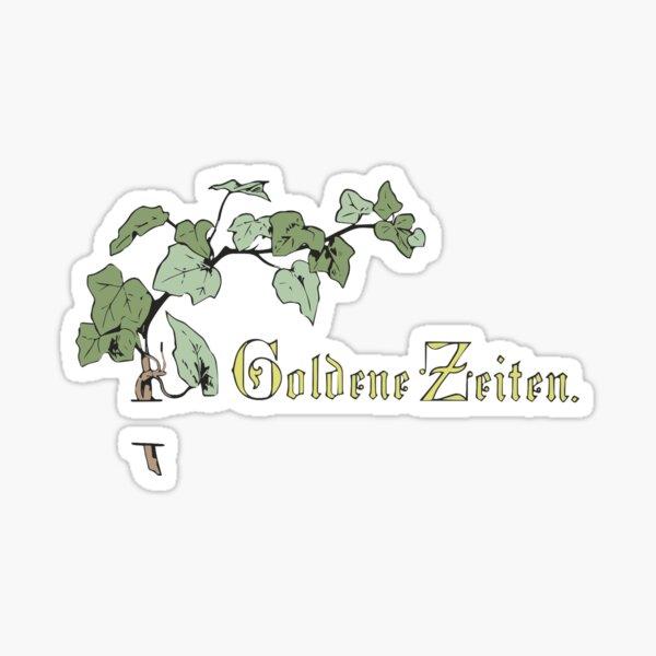 Golden times, retro vintage Sticker