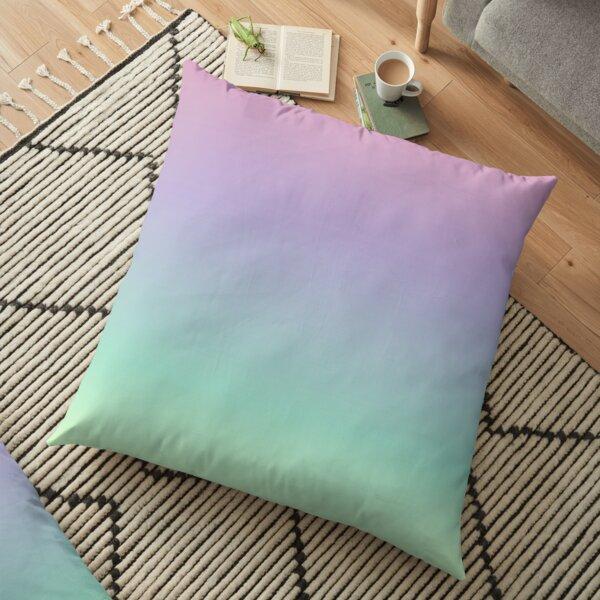 PIXEL CLOUD - Minimalist Pastel Rainbow Gradient Ombre Floor Pillow