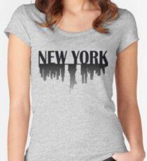 New York Skyline 2 Women's Fitted Scoop T-Shirt