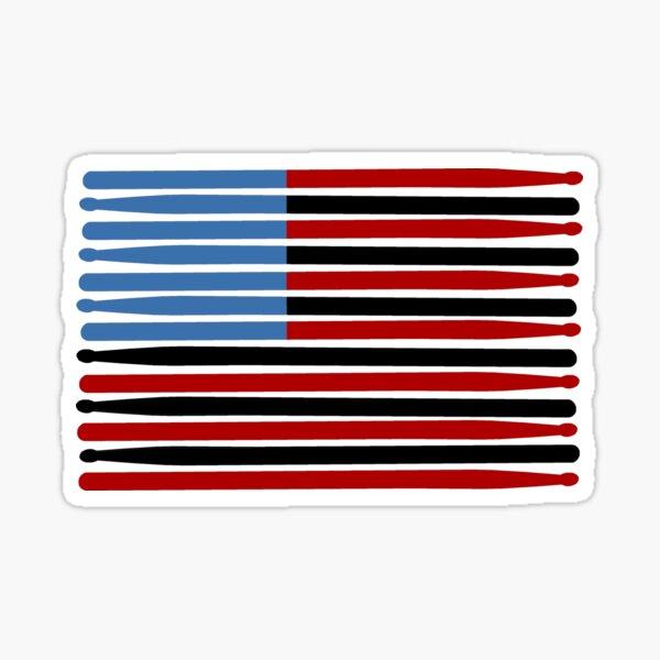 Drum Stick American Flag Sticker