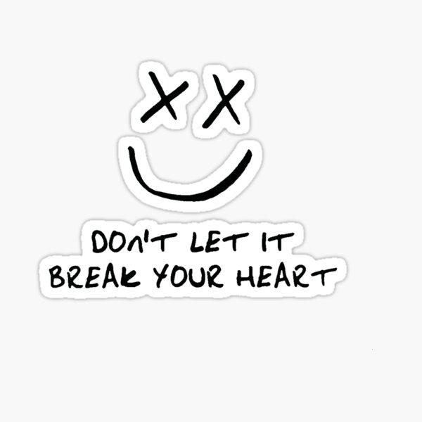 No dejes que se rompa Smiley Pegatina