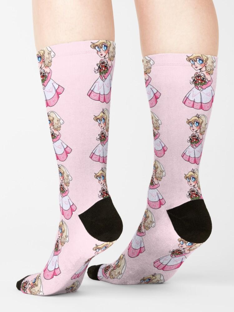 Alternate view of Princess in Peach Socks