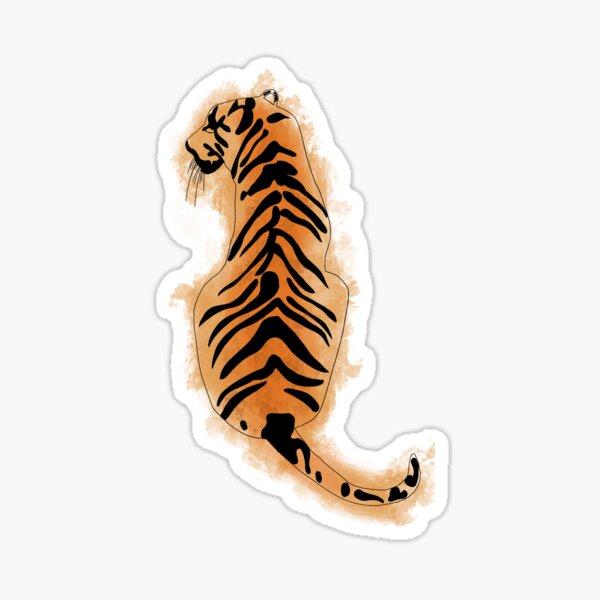 Watercolor Tiger Sticker