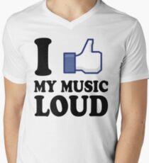 FB like 1 Men's V-Neck T-Shirt
