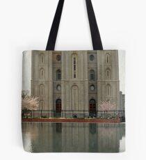 Salt Lake Temple - Vertical Tote Bag