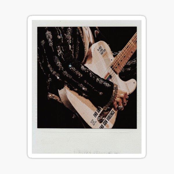 Pegatina Harry Styles LGBT BLM Guitarra Polaroid Pegatina brillante