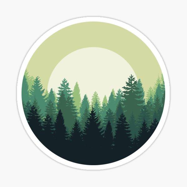 Deep Forest Sticker