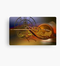 The flow of the time Canvas Print