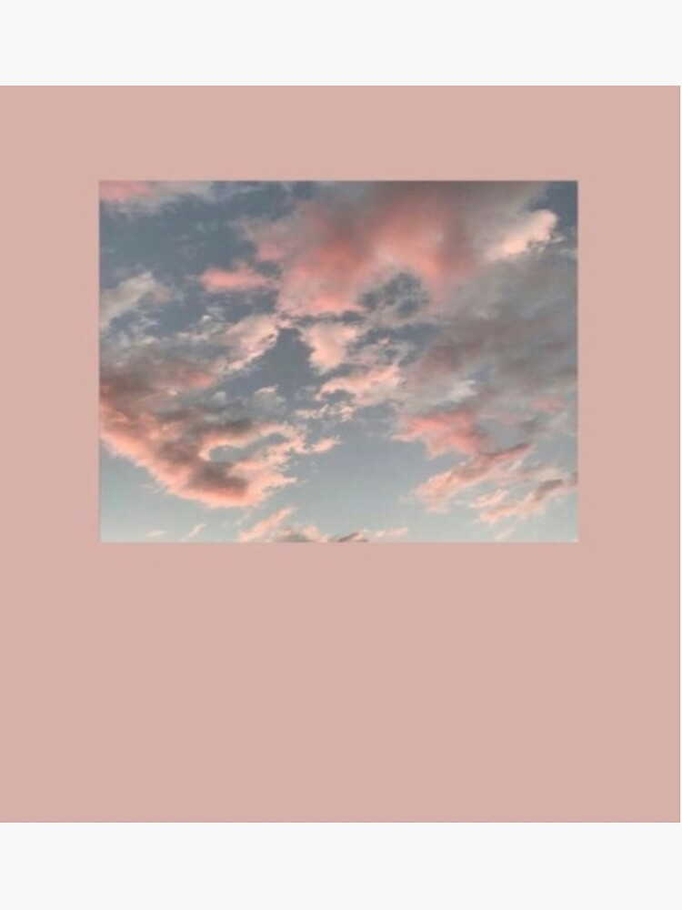 Pink Cloud Aesthetic Greeting Card By Maddiesartworks Redbubble