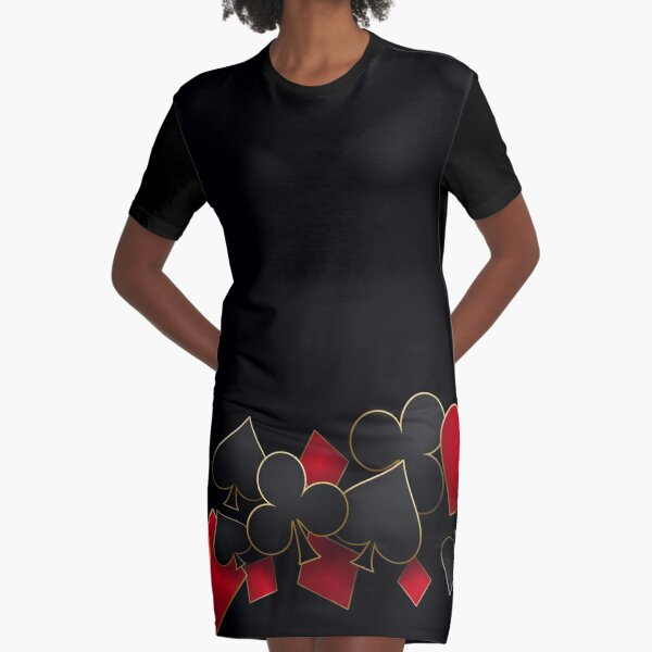 For the love of Cards Graphic T-Shirt Dress