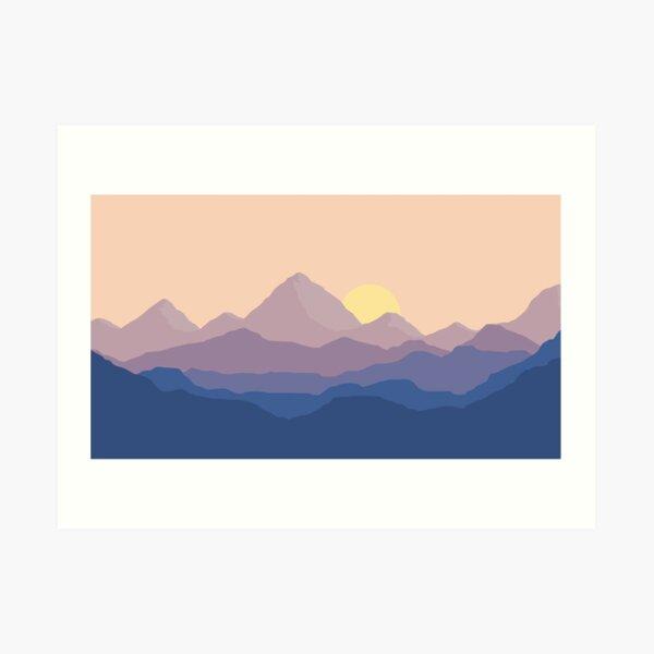 Chill Mountain Horizon Art Print