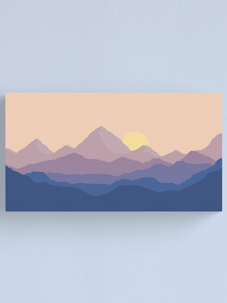 Alternate view of Chill Mountain Horizon Canvas Print
