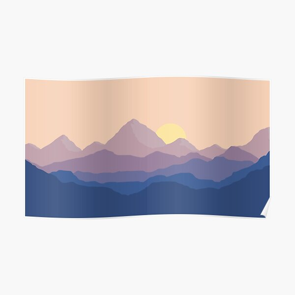 Chill Mountain Horizon Poster