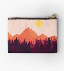 Forest Mountain Horizon Zipper Pouch