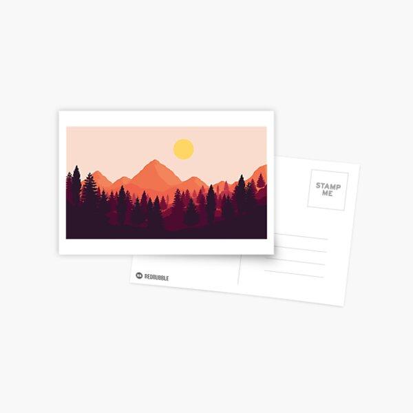 Forest Mountain Horizon Postcard