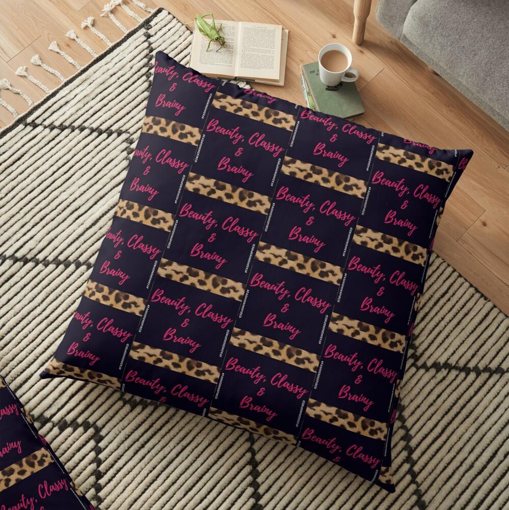 Beauty, Classy & Brainy Floor Pillow