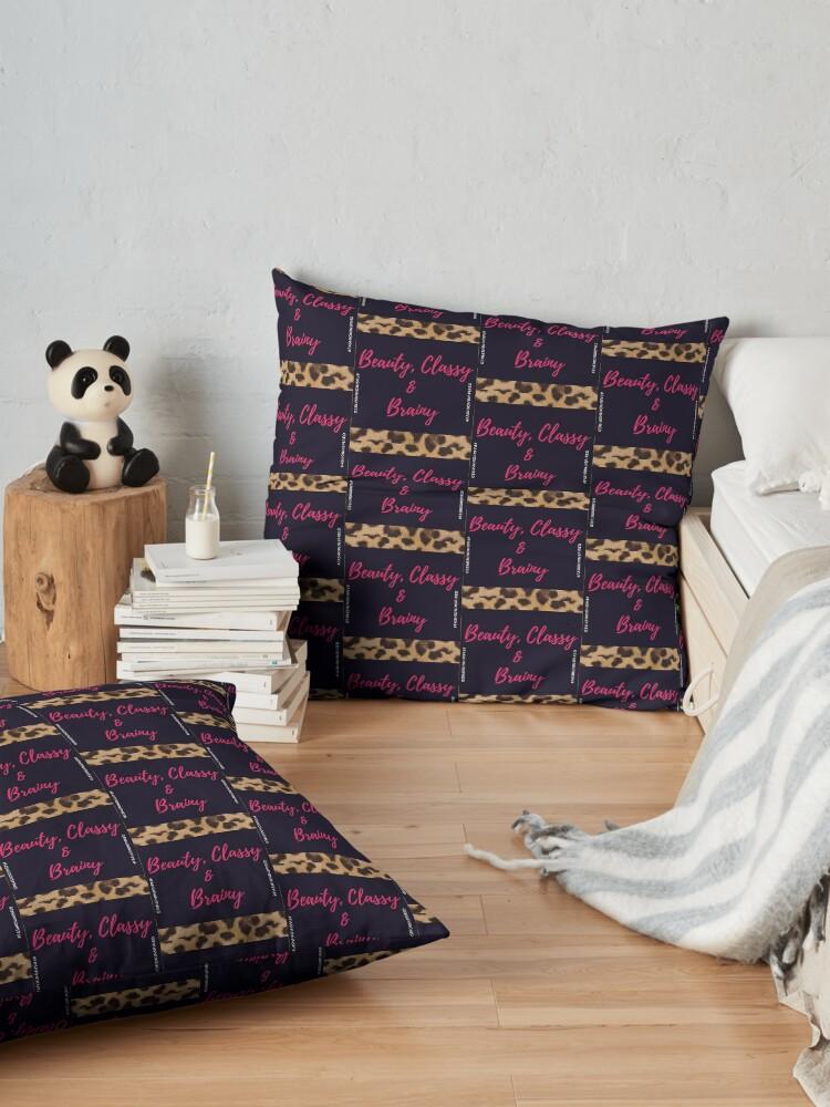 Alternate view of Beauty, Classy & Brainy Floor Pillow