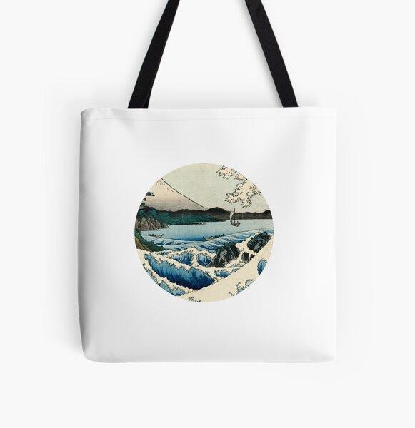 Hiroshige - The Sea off Satta All Over Print Tote Bag