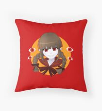 Deep Sea Prisoner - Red Sea Witch Throw Pillow