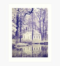 Small house in the park  Art Print