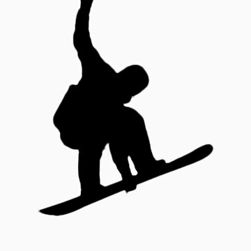 snowboarding design silhouette by its-mr-towel