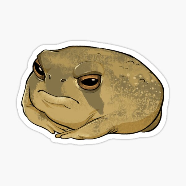 Angry Rain Frog Sticker