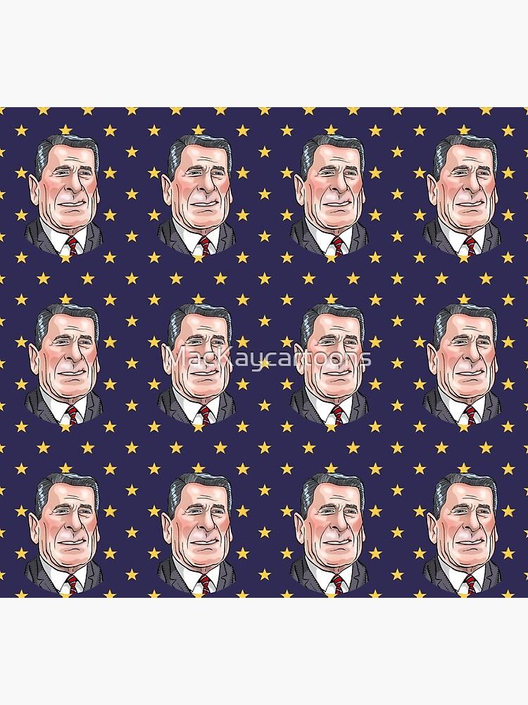 President Ronald Reagan by MacKaycartoons
