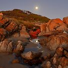 """ Moon Rise Cape Conran Vic. by helmutk"