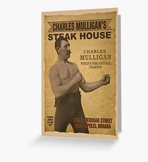 Charles Mulligan's Steak House Greeting Card