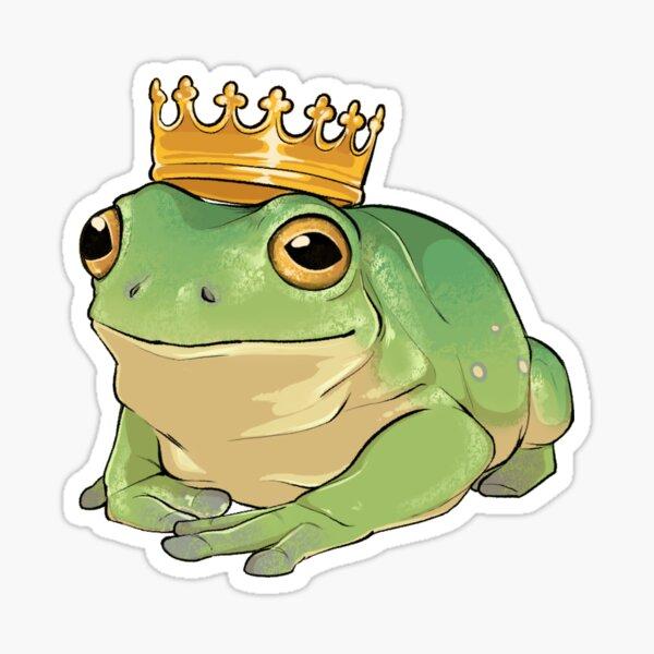 Royal Frog Sticker