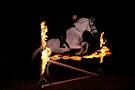 Fire jump by Brian Edworthy
