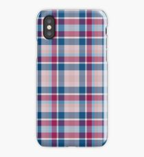 Blue Red Pink Plaid iPhone Case