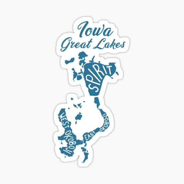 Iowa Great Lakes Sticker